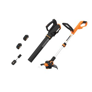 WORX Power Share 20V Cordless Trimmer and Turbine Blower Combo Kit