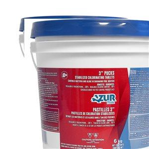 AZUR AZUR Stabilized Chlorinating 3-in Pucks 6Kg