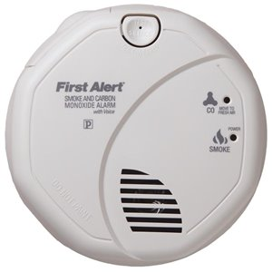 First Alert 120v Photoelectric Smoke and CO alarm with battery back up