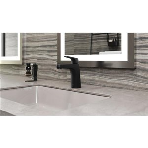 Pfister Matlock Single Control 4-in Centerset Bathroom Faucet in Matte Black