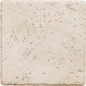 Del Conca Rialto White Thru Body Porcelain Floor and Wall Tile (Common: 6-in x 6-in; Actual: 5.8-in x 5.8-in)