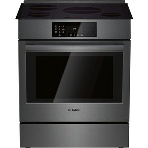Bosch 800 Series 30-in 4.6 cu. ft 4-Element Induction Slide-in Range (Black Stainless Steel)