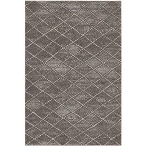 KORHANI Studio Alta Charcoal Area Rug 4x6 (Gallant 2.0 collection)