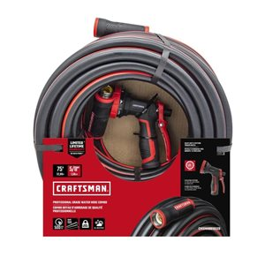 CRAFTSMAN 75-ft Professional Grade Hose with 8-Pattern Nozzle Combo