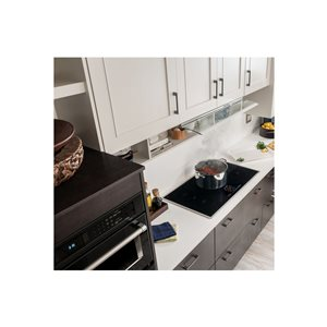 KitchenAid 36-in 5-Element Smooth Surface Induction Electric Cooktop (Stainless Steel)