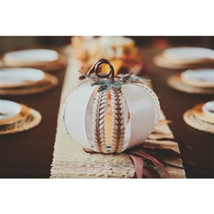 Infinity Metal Pumpkin with LED Candle