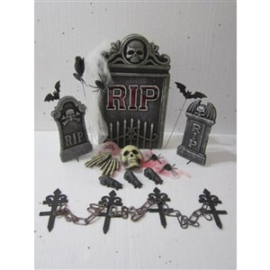 Infinity Tombstone RIP with Deco Kit