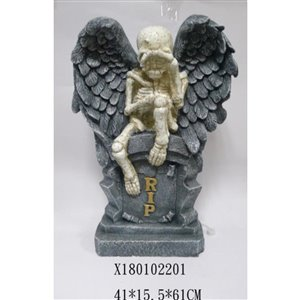 Infinity Skull Angel Tombstone