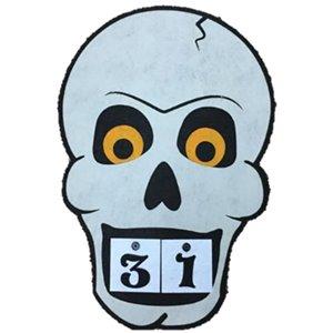 Holiday Living 15-in Felt Hanging Calendar Skull