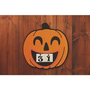 Holiday Living 15-in Felt Hanging Calendar Pumpkin