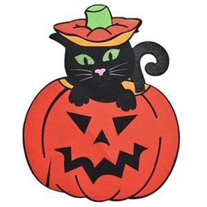 Holiday Living Dimensional Felt Soft Wall Decor Cat Pumpkin - 33-in
