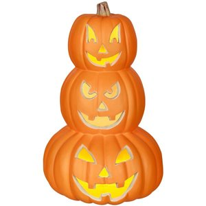 Gemmy LightedTrio Blow Mold Pumpkin Stack-B -  14-in