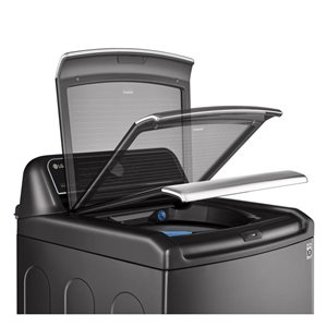 LG High-Efficiency Top-Load Washer (Black Steel) ENERGY STAR
