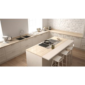 Leadvision Rubber Wood Counter Top 25.5 -in x 72 -in x 1.5 -in