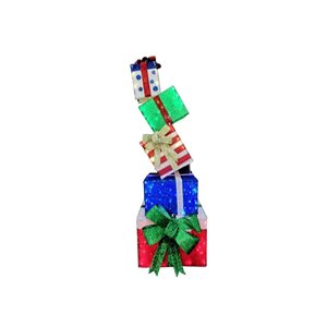 Holiday Living 66 -in LED Gift Box Tower Sculpture