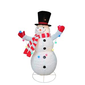 Holiday Living 72 -in Pop Up Fluffy Snowman Sculpture