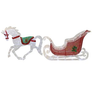 Holiday Living Lighted Horse with Sleigh