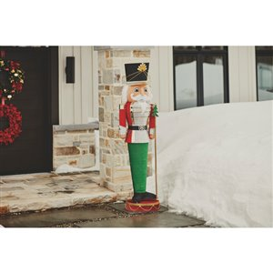 Holiday Living 76-in Tall Lighted Colla-PSIble Nutcracker