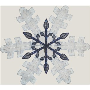 Holiday Living 46in Height 210L glitter mesh fabric snowflake
