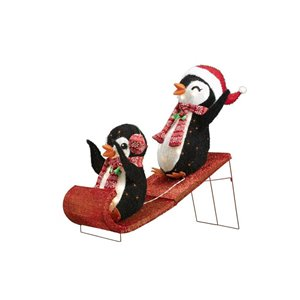 Holiday Living 2pk 36in Height 70L Fabric Penguin