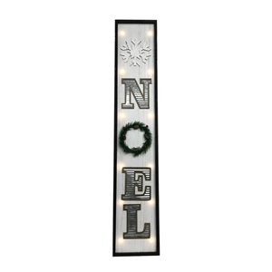 Holiday Living 42 in H Lighted Noel Wooden Sign