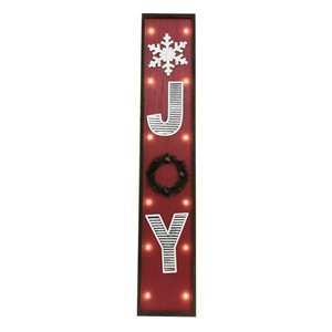 Holiday Living 42 in H Lighted JOY Wooden Sign