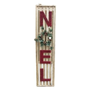 Holiday Living 60�H LIGHTED NOEL WOODEN SIGN