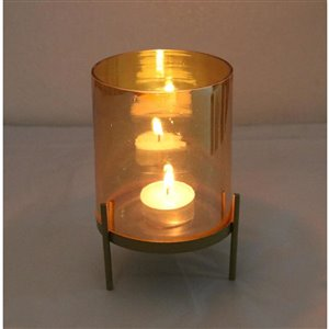 Holiday Living Glass Lantern with Metal Stand