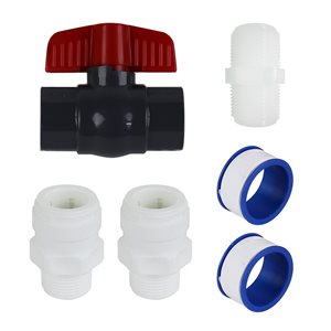 Rainfresh 3/4-in White PEX/Copper Pipe Water Filter Connector Kit