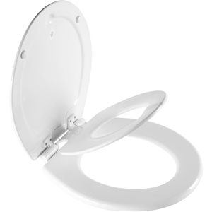 Mayfair NextStep2 Child/Adult Round Toilet Seat in White with STA-TITE Seat Fastening System