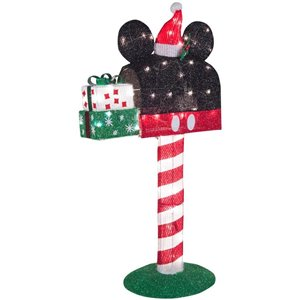 Disney Animated 3D Holiday Lighted Tinsel Sculpture-Mickey Mailbox-Disney (Lowe's)