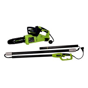 Greenworks 6 Amp 10 In. 2-in-1 Pole Saw