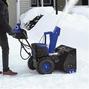 Snow Joe 24-in 100-Volt Brushless Lithium-iON Dual Stage Cordless Electric Snow Blower Kit with 5.0 Ah Battery + Charger