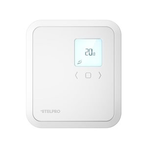 Stelpro ST Series Rectangle Electronic Non-Programmable Thermostat, 2500-Watt/240-Volt,  White
