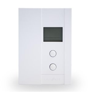 Uniwatt UT Series Rectangle Convection Electronic Non-Programmable Thermostat, 2000-Watt, White