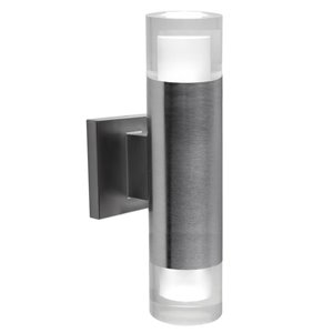 BAZZ Luvia LED Outdoor Wall Fixture in Stainless Steel