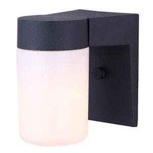 Canarm 1 Light Jayne Outdoor Wall Light, Matte Black Finish, Opal Glass, 1 x 60W Type A Bulb (Not Included)
