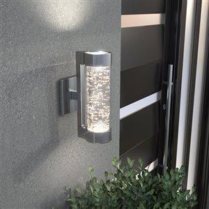 Artika Artika Bubbled Glass LED Wall Sconce Light- Stainless Steel