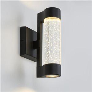 Artika Artika Bubbled Glass LED Wall Sconce Light- Black