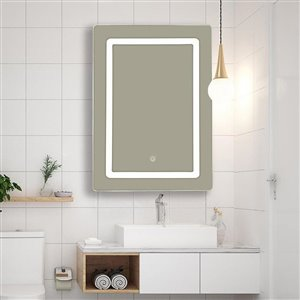 Soho LED Mirror 20-in x 28-in Battery Operated