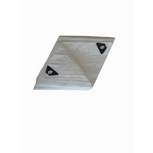 Project Source Tarp 8-ft X1 0-ft White 76gsm