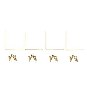 National Hardware 4-Pack 1.6-in Brass Corner Brace