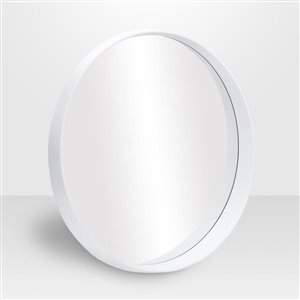 Avalon Round White Vanity Mirror 24 -in Diameter