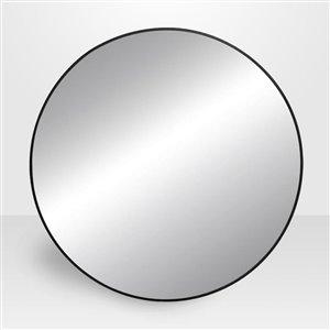 Avalon Round Black Metal Mirror 32-in
