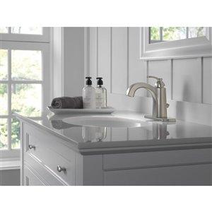DELTA Flynn Single Handle Centerset Bathroom Faucet in Stainless Steel