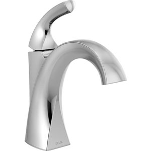 DELTA Downing Single Handle Centerset Bathroom Faucet in Chrome
