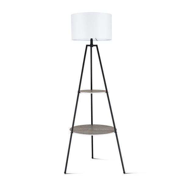 Black Tripod Etegere Floor Lamp With, Floor Lamps With Shelf Canada