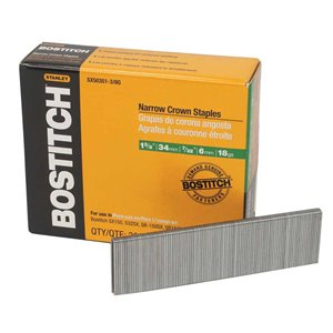"Bostitch 1-3/8"" 18-Gauge 7/32"" Narrow Crown Finish Staple"
