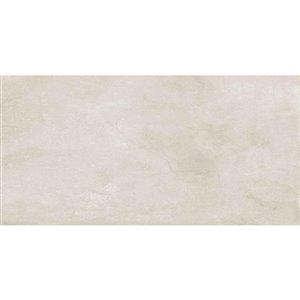 Mono Serra 8-Pack White Porcelain - 12-in x 24-in - Price per pack of 16.68 sq.ft