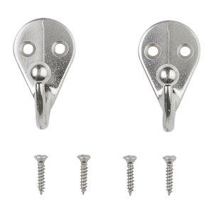 National Hardware 2-Pack Satin Nickel Garment Hook